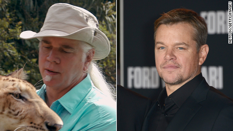 "Bhagavan ""Doc"" Antle and Matt Damon."
