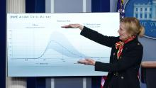 Top public health official says number of dead could be lower as Americans practice social distancing