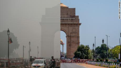 The world's largest coronavirus lockdown is having a dramatic impact on pollution in India