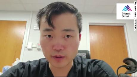 Dr. Matthew Bai speaks on a video posted to the Mount Sinai Hospital's Facebook page.