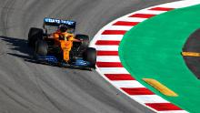 Lando Norris driving for McLaren F1.