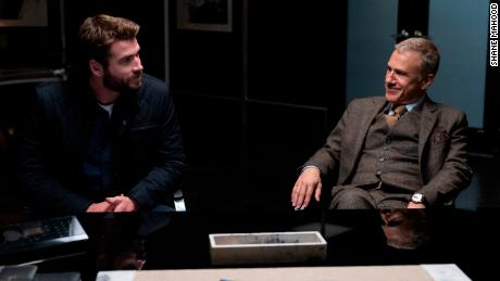 Liam Hemsworth and Christoph Waltz in 'Most Dangerous Game.'