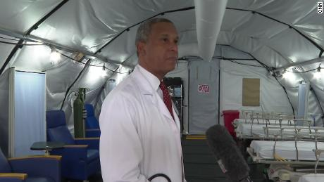 Dr Wayne Riley, president of SUNY Downstate, is worried about keeping his staff healthy.