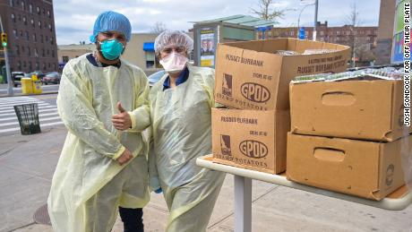 These Boston health care workers supported their New York counterparts by sending them meals during the coronavirus fight