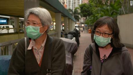 Cheung Lai Hung, left, and Chan Yuk Kuen, right.