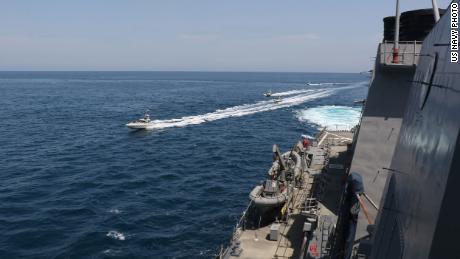 Iran ships make 'harassing' maneuvers at US  ships
