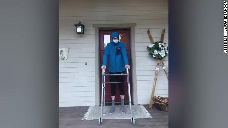 Jesse Vanderhoof stands outside his home in Blaine County, Idaho.