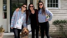 Sandra Sandoli (center) and her daughters pose at their Fair Haven, New Jersey, home.