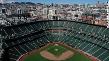 Oracle Park, home of the San Francisco Giants, may be empty for awhile.