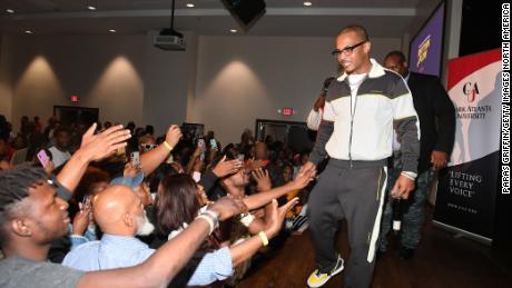 Rapper T.I. attends Netflix Presents Rhythm+Flow Atlanta screening in October.