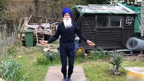Meet the 73-year-old 'Skipping Sikh'