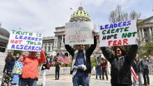 Conservative groups boost anti-stay-at-home protests