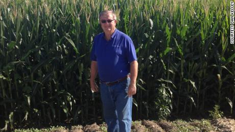 Dan Kelley on his farm near Normal, Illinois.