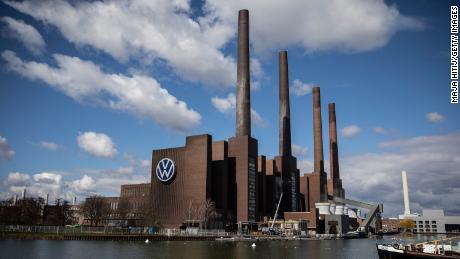 Volkswagen's gigantic factory complex in Wolfsburg, Germany.