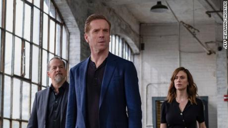 David Costabile, Damian Lewis and Maggie Siff in 'Billions.'