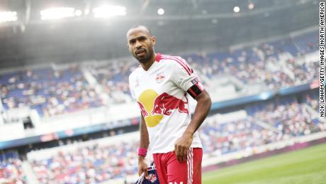 Henry takes to the field for the game against the Chicago Fire.