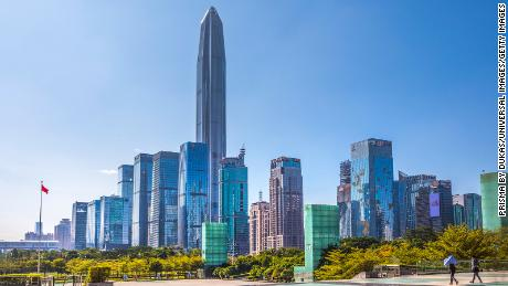 China, Shenzhen City, Shenzhen Pingan  Tower, Futian District (Photo by: Prisma by Dukas/Universal Images Group via Getty Images)