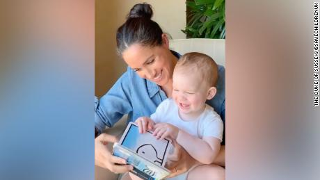 Meghan reads from 'Duck! Rabbit!' to celebrate son Archie's first birthday
