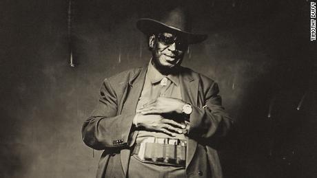 Blues musician Sam Frazier