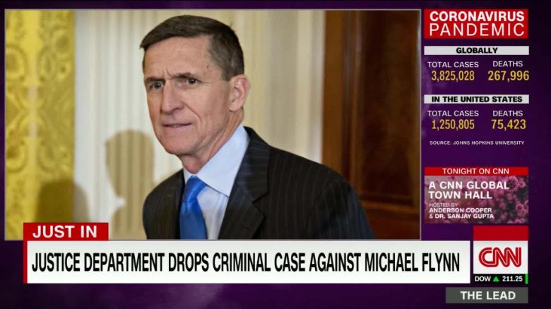 U.S.  drops criminal case against ex-Trump adviser Michael Flynn