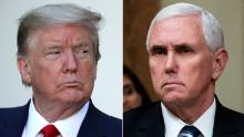 Pence 'maintaining distance' from Trump 'for the immediate future'