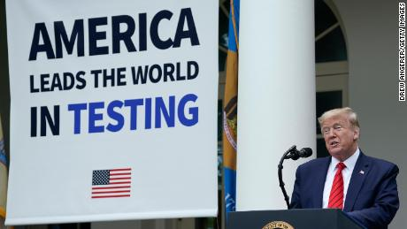 Trump says the US leads the world in testing. But it's far behind in testing per capita, studies show