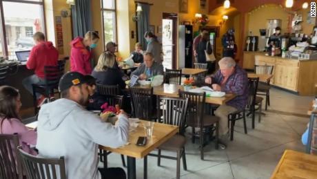 Video shows coffee shop customers ignoring social distancing guidelines in Colorado