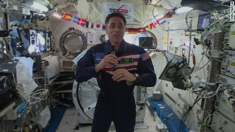 NASA astronaut beams a message of hope to Earth in the pandemic