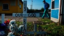 A memorial calls into question God's existence  in Huntington, West Virginia. The small city bordering Kentucky has been seen as an epicenter of the opioid crisis.