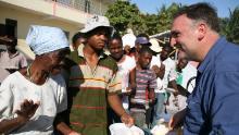 Chef José Andrés in Haiti in 2010. (Courtesy World Central Kitchen)