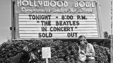 The Beatles performed at the Hollywood Bowl on Aug. 24, 1964 (Photo: Los Angeles Times via Getty Images.)