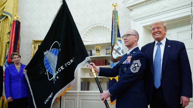 Space Force flag unveiled at White House ceremony