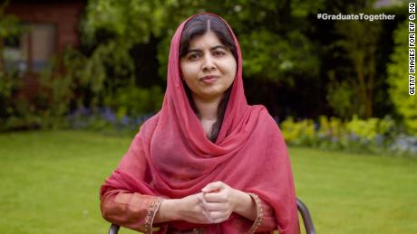 """Malala Yousafzai speaks during """"Graduate Together: America Honors the High School Class of 2020"""" on May 16, 2020."""