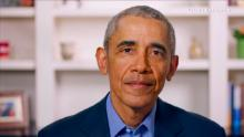 """Former President Barack Obama speaks during """"Graduate Together: America Honors the High School Class of 2020 on May 16, 2020."""""""