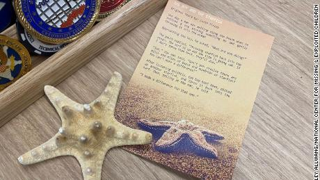 """""""The Boy And The Starfish"""" by Loren Eisley is a short story that Allwang keeps at her desk as a reminder of the vital work she is doing."""