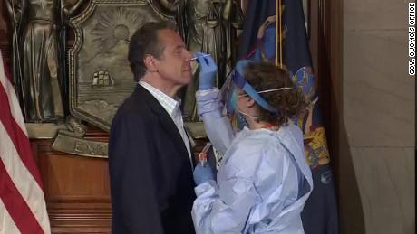 Gov. Cuomo got tested for Covid-19 at a press conference to show how easy it is