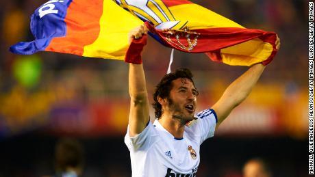 Esteban Granero celebrates after winning the Copa del Rey against Barcelona in 2011.