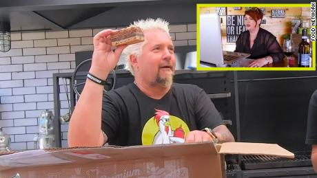 "Guy Fieri appears on a special take-out episode of ""Diners, Drive-Ins and Dives."""