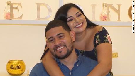 Garcia met her husband, Yasreynolds Rodriguez, in the Dominican Republic in 2017.