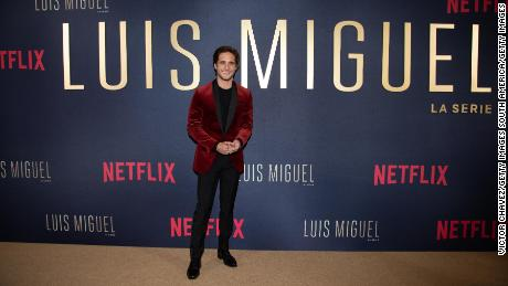 "Diego Boneta poses on the red carpet during the ""Luis Miguel"" premiere at Cinemex Antara on April 17, 2018, in Mexico City."