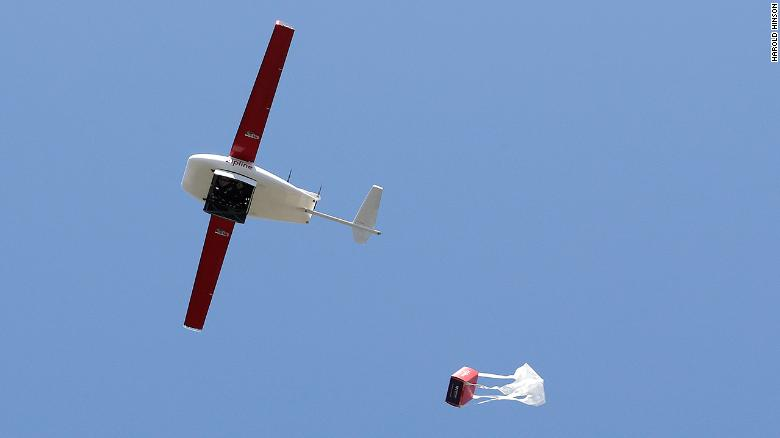 Zipline drones deliver supplies and PPE to USA  hospitals