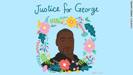 'My emotions were so raw': The people creating art to remember George Floyd