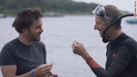 Director Damon Gameau (left) in '2040'