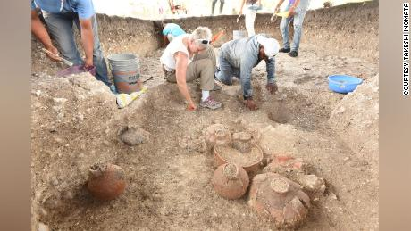 As well as mapping Aguada Fenix from the sky, the team also excavated the site, discovering ceramic vessels and other objects.