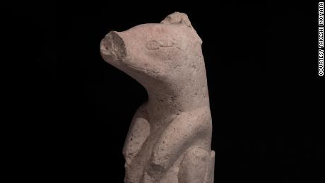 A stone sculpture found at Aguada Fenix dating back to 1000-700 BC.