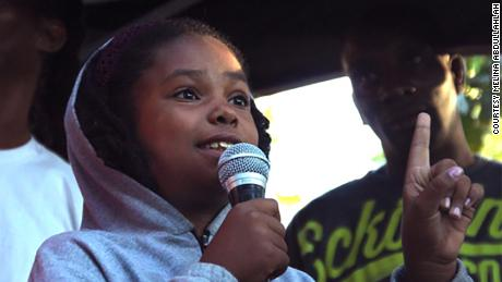 Thandiwe Abdullah spoke at a rally for Trayvon Martin at her local park in October 2014.