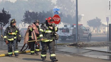 There were approximately 200 firefighters on scene Wednesday.