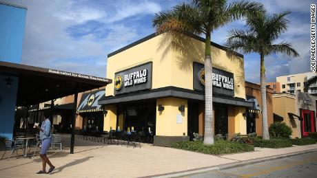 A Buffalo Wild Wings restaurant is seen on November 28, 2017 in Miami.