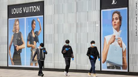 A closed Louis Vuitton store in Wuhan in March. Its parent company, LVMH, told investors in April that sales had surged for most of its brands in China as the market there reopened.