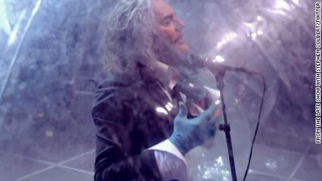 The Flaming Lips perform in socially distant bubbles on Stephen Colbert's late night show.